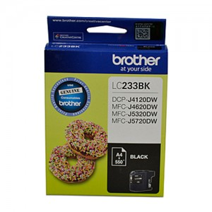 Genuine Brother LC-233 Black Ink Cartridge - up to 550 pages