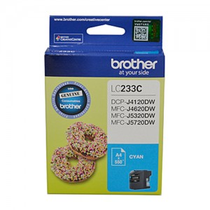 Genuine Brother LC-233 Cyan Ink Cartridge - up to 550 pages