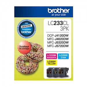 Genuine Brother LC-233 CMY Colour Pack - up to 550 pages each