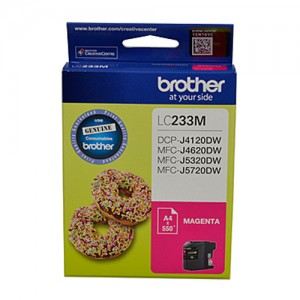 Genuine Brother LC-233 Magenta Ink Cartridge - up to 550 pages