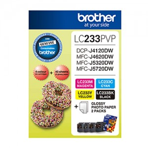 Genuine Brother LC-233 Photo Value Pack - refer to singles