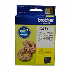 Genuine Brother LC-233 Yellow Ink Cartridge - up to 550 pages