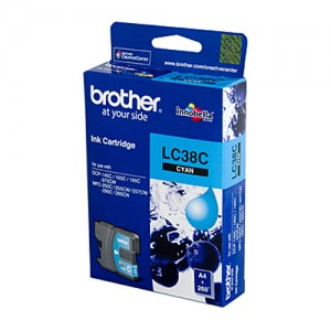 Genuine Brother LC-38C Cyan Ink Cartridge - 260 pages