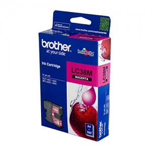 Genuine Brother LC-38M Magenta Ink Cartridge - 260 pages