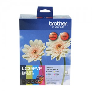Genuine Brother LC39 Photo Value Pack - refer to singles