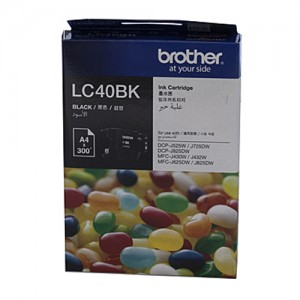 Genuine Brother LC-40BK Black Ink Cartridge - 300 pages
