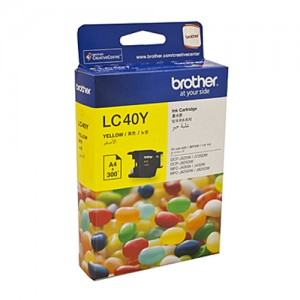 Genuine Brother LC-40Y Yellow Ink Cartridge - 300 pages