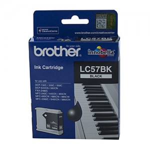 Genuine Brother LC-57BK Black Ink Cartridge - up to 500 pages