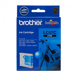 Genuine Brother LC-57C Cyan Ink Cartridge - up to 400 pages