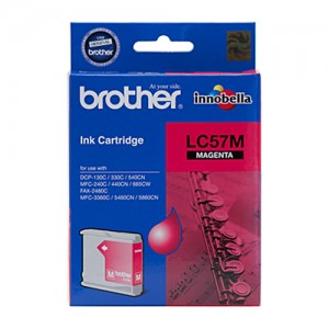 Genuine Brother LC-57M Magenta Ink Cartridge - up to 400 pages