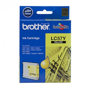 Genuine Brother LC-57Y Yellow Ink Cartridge - up to 400 pages