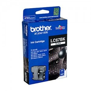 Genuine Brother LC-67BK Black Ink Cartridge - 450 pages