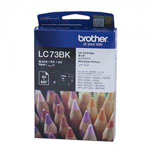 Genuine Brother LC-73BK Black Ink Cartridge - 600 pages