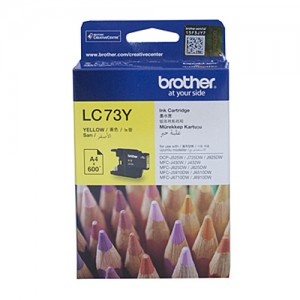 Genuine Brother LC-73 Yellow Ink Cartridge - 600 pages