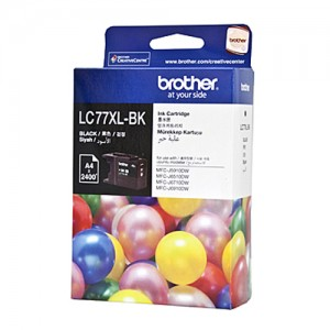 Genuine Brother LC-77XL Black Ink Cartridge - 2,400 pages