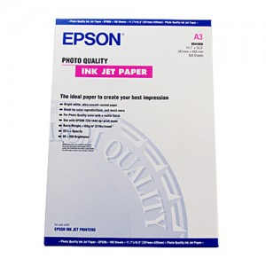 Genuine Epson Photo Quality Paper A3 100 Sheets 102gsm