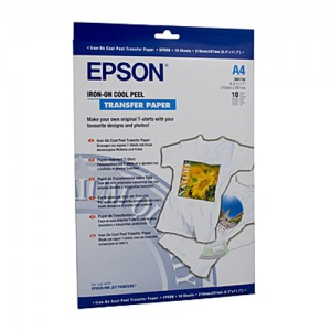 Genuine Epson Iron on Transfers A4 10 Sheets 124gsm