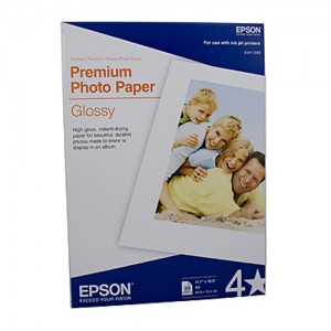 Genuine Epson Premium Glossy Photo Paper A3 20 Sheets 255gsm