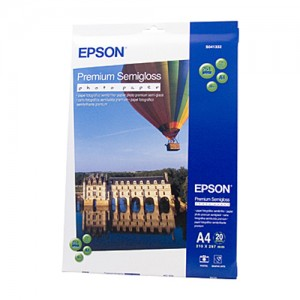 Genuine Epson Premium Semi gloss Photo Paper A4 20 Sheets 251gsm