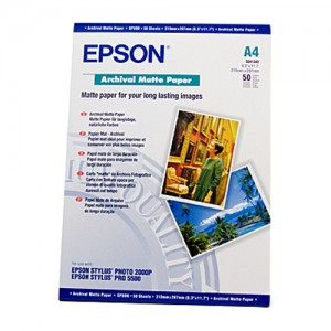 Genuine Epson Archival Matte Paper A4 50 Sheets 192gsm