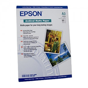 Genuine Epson Archival Matte Paper A3 50 Sheets 192gsm