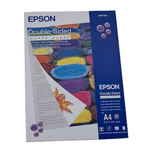 Genuine Epson Double Sided Matte Paper A4 50 Sheets 178gsm