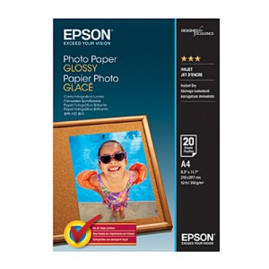 Genuine Epson S042538 Glossy P/Paper - 20 sheets, A4, 200gsm