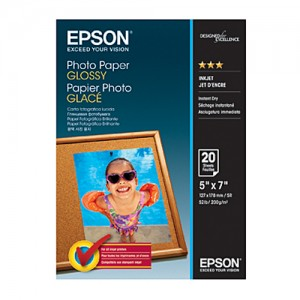 Genuine Epson 5x7 Glossy P/Paper - 20 Sheets 200gsm