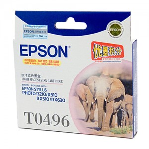 Genuine Epson T0496 Light Magenta Ink Cartridge - 430 pages