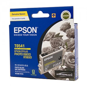 Genuine Epson T0541 Photo Black Ink Cartridge - 550 pages