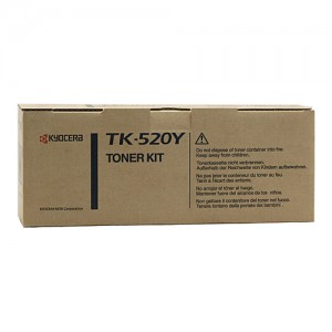 Genuine Kyocera FS-C5015N Yellow Toner Cartridge - 4,000 pages