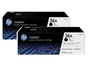 Genuine HP CB436AD No.36A Toner Cartridge Twin Pack - 2 x 2,000 pages