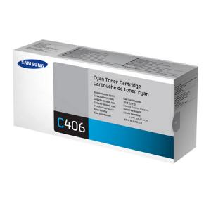 Genuine Samsung CLTC406S Cyan Toner to suit CLP360 / CLP365 / CLX3300 / CLX3305 - 1,000 pages