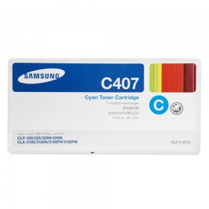 Genuine Samsung CLTC407S Cyan Toner Cartridge to suit CLP-325 / CLX-3185  - 1,000 pages