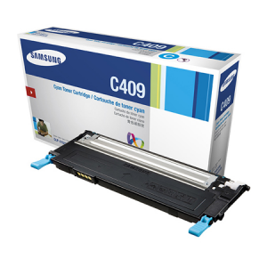 Genuine Samsung CLTC409S Cyan Toner Cartridge to suit CLP-310 / CLP-315 / CLX-3170 / CLX-3175 - 1,000 pages