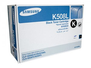 Genuine Samsung CLTK508L Black Toner Cartridge to suit CLP-620ND / CLP-775ND - 5,000 pages