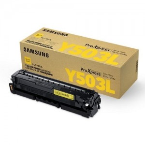 Genuine Samsung CLTY503L Yellow Toner Cartridge to suit SLC3010ND / SLC3060FR - 5,000 pages