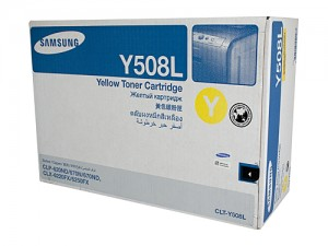 Genuine Samsung CLTY508L Yellow Toner Cartridge to suit CLP-620ND / CLP-775ND - 4,000 pages