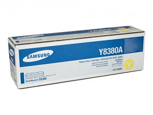 Genuine Samsung CLXY8380A Yellow Toner Cartridge to suit CLX-8380 - 15,000 pages