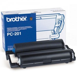 Genuine Brother PC-201 Print Cartridge + 1 roll - 450 pages