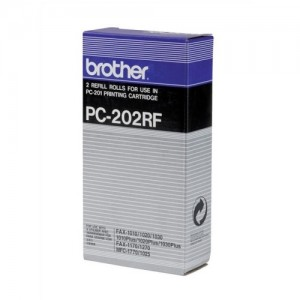 Genuine Brother PC202RF Fax Refill Rolls x 2 - 420 pages
