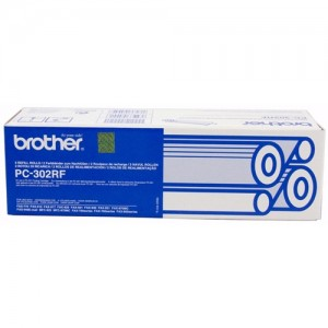 Genuine Brother PC302RF Fax Refill Rolls x 2 - 235 pages