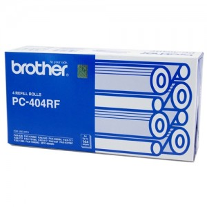 Genuine Brother PC404RF Fax Refill Rolls x 4 - 144 pages