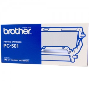 Genuine Brother PC-501 Print Cartridge + 1 roll