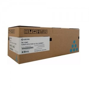 Genuine Kyocera TK154C Cyan Toner Cartridge for FS-C1020MFP  - 6,000 pages