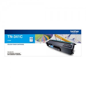Genuine Brother TN-341C Cyan Toner Cartridge - 1,500 pages