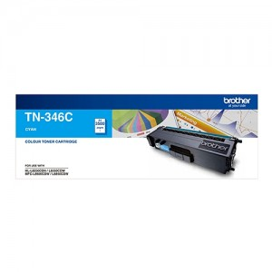 Genuine Brother TN-346C Cyan Toner Cartridge - 3,500 pages