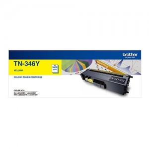 Genuine Brother TN-346Y Yellow Toner Cartridge - 3,500 pages