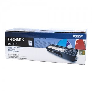 Genuine Brother TN-348BK Black Toner Cartridge - 6,000 pages