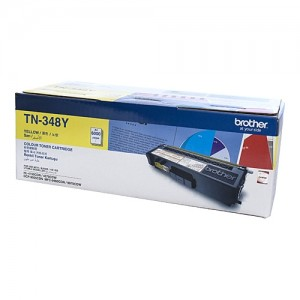 Genuine Brother TN-348Y Yellow Toner Cartridge - 6,000 pages